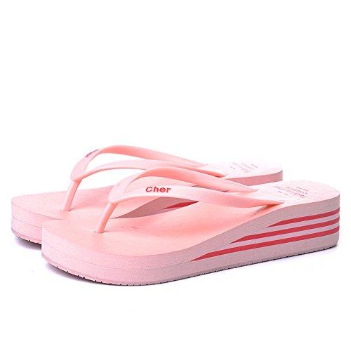 Amarillo De Rojo Amarillo E Tamaño Verano Azul Pink Sandalias Zapatillas moda Negro Multicolores LIXIONG De Para de Plástico Marrón Color Zapatos Antideslizantes 2 Rosa Azul 1 Portátil Mujer q0HnnUS
