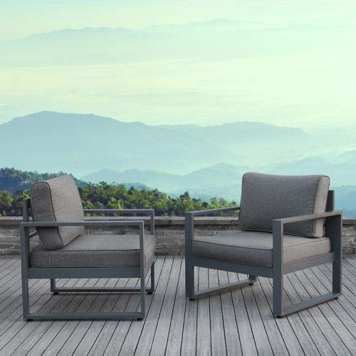 Real Flame 9611-GRY Baltic Casual Chairs-Set of 2, Gray