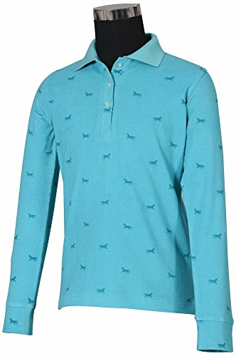 TuffRider Childs Madelyn L/S Polo S Aqua