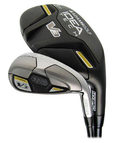 New Adams Golf – Idea Tech V3 Hybrid Irons #4/5/6 Hybrids 7-PW/GW Regular Flex Graphite/Steel, Outdoor Stuffs