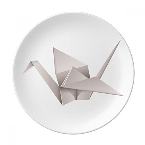 Geometric Origami Abstract Crane Pattern Dessert Plate Decorative Porcelain 8 inch Dinner -