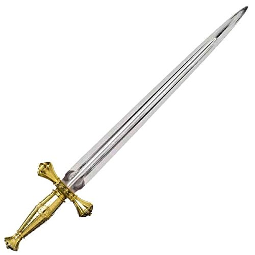 [Crusader Sword Deluxe Costume Accessory, Plastic, 33-3/4