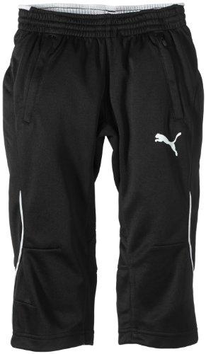 PUMA Kinder Hose 3/4 Training Pants, black-white, 164, 653825 03