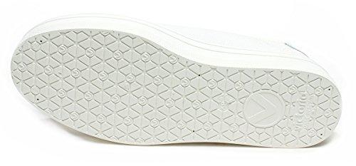 Sneakers donna Victoria, art. 1132101BLANCO, tomaiain tessuto bianco e puntale in gomma, fondo platform bianco.