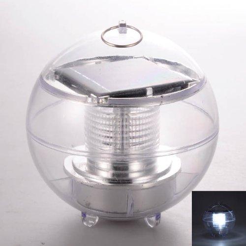 Solar Powered Waterproof LED Garden Light Floating Outdoor Ball Lamp - White Light