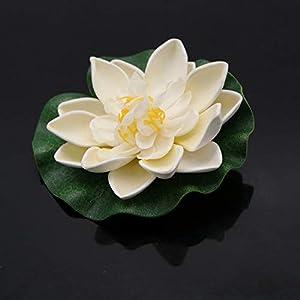 JETEHO Set of 8 Artificial Floating Foam Lotus Flower Water Lily for Home Garden Pond Aquarium Wedding Decor 4
