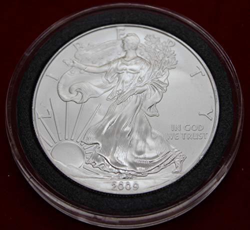(2009 Silver American Eagle Brilliant Uncirculated Gem Collectible Us Coin .999 Fine Silver 1 Oz $1)