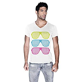 Creo Beach Cool Glasses Beach Cool Glasses T-Shirt For Men - Xl, White