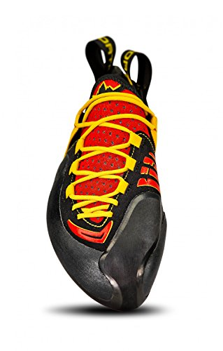 La Sportiva Genius–Piedi di gatto per uomo, colore: rosso/giallo, taglia 35.5
