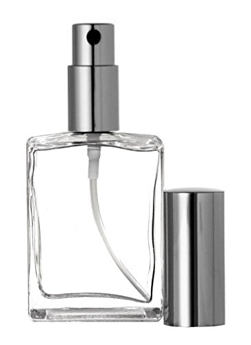Riverrun Perfume/Cologne Atomizer Empty Refillable Glass Bottle Fine Mist Sprayer 15ml 1/2 oz (Set of 10 - Silver) by Riverrun
