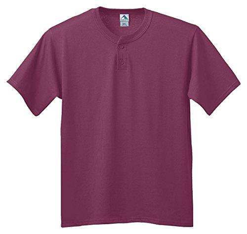 Augusta Sportswear Six-ounce two-button baseball jersey - MAROON - 2XL by Augusta Sportswear