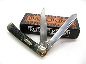 ROUGH RIDER Bark Bone TRAPPER 2 Blade Folder Folding Pocket ProTactical'US - Limited Edition - Elite Knife with Sharp Blade New! OSB1384