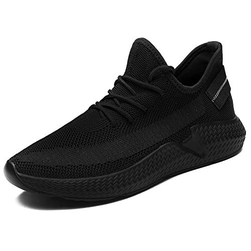 DoCH Mens Casual Athletic Sneakers Running Sneaker Ultra Lightweight Shoes Breathable Fashion Casual Athletic Shoes for Men Walking Baseball Jogging Black