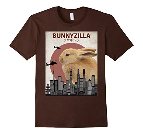 Mens Bunnyzilla Bunny T-Shirt | Funny Gift for Rabbit Lovers XL (Rabbit Animal T-shirt)