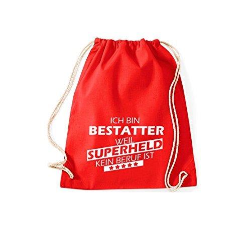 Shirtstown Bolsa de gimnasio Estoy Enterrador, weil Superheld sin Trabajo ist Rojo