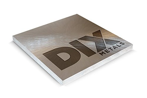 DIX Metals- .625 x 24 x 24 Flat & Parallel Sides Saw Cut 7075-T651 Precision Ground Machine-Ready Blanks by Dix Metals