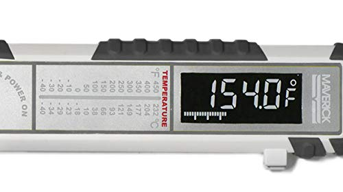 MAVERICK Pro-Temp Commercial Smoker BBQ Probe Meat Thermometer, 5-Inch, White/Gray
