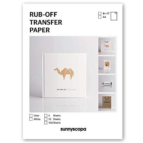 Sunnyscopa Inkjet Rub-off Transfer Paper (Clear, 5 sheets)
