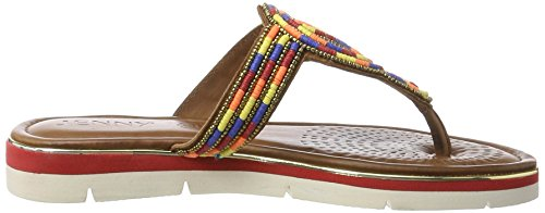 Jenny Curacao - Mules Mujer Gelb (Multi-Color)