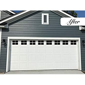 Magnetic Garage Door Windows Decorative Black Window