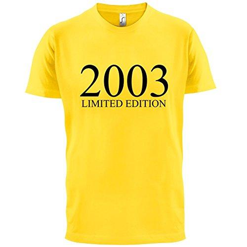 2003 Limierte Auflage / Limited Edition - 14. Geburtstag - Herren T-Shirt - Gelb - L