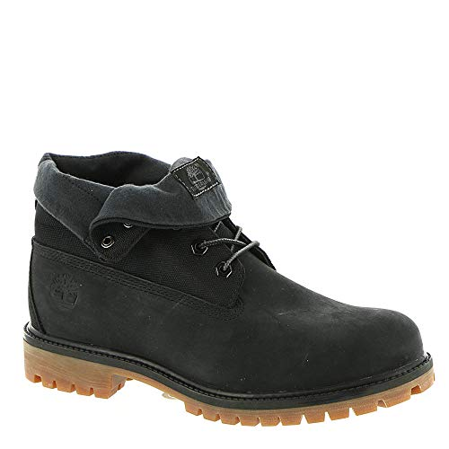 (Timberland Men's Icon Collection Single Roll-Top Ankle Boot, Black Nubuck, 10.5 Medium US)