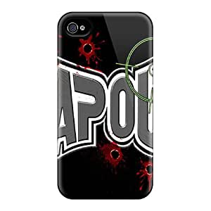 Bumper Cell-phone Hard Cover For Iphone 4/4s With Provide Private Custom Vivid Tapout Image JasonPelletier