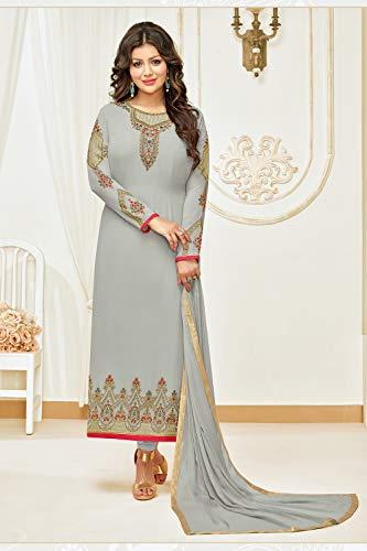 KameezGrey Women Traditonal Salwar Ethnic Partywear Indian Designer L4R5Aj