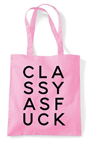 Pink Stacked Shopper As Bag Fuck Text Classy Statement Tote Light qHfwnAz