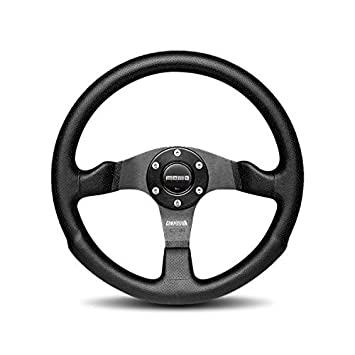 Momo Competition Black Steering Wheel 350mm Leather