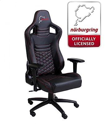 Speedmaster Chair Black - Fibra óptica de carbono - Nürburgring Edition - Silla de juegos - Oficina - Silla de oficina: Amazon.es: Videojuegos