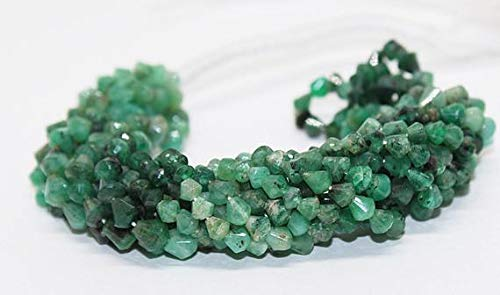 Fancy 3 Strand - GemAbyss Beads Gemstone 65% Off Sale 14 Inch Long Full Strand Natural Emerald Faceted Beads/Fancy Shape Genuine Emerald Gemstone Beads Strand Size-3-4mm Code-MVG-2318