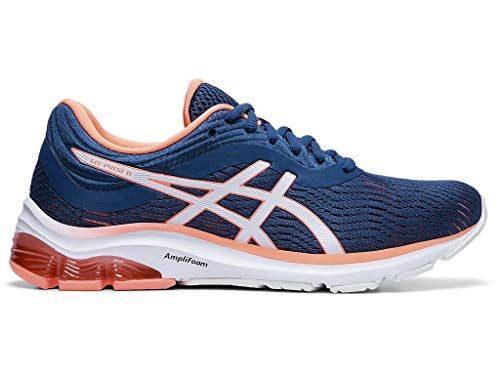 ASICS Women's Gel-Pulse 11 (D) Running Shoes, 8W, MAKO Blue/Sun Coral