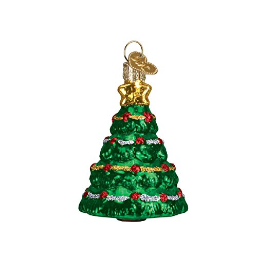 Old World Christmas Mini Tree Glass Blown Ornament