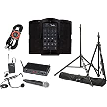 Fender Passport Venue Portable PA System Bundle with Samson Concert 288 All-In-One Dual-Channel Wireless System and Accessories - Portable PA System
