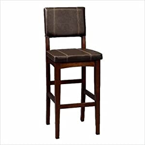 Amazon Com Linon Milano Counter Stool 24 Kitchen Amp Dining