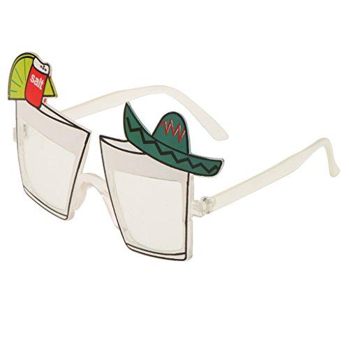 MonkeyJack Hawaiian Sunglasses Party Glasses Cocktail Party Fancy Dress - Cocktail Novelty Sunglasses