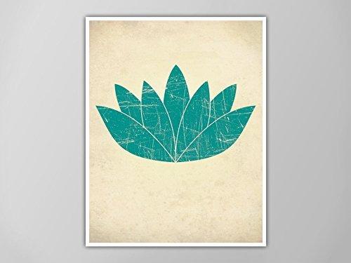 Amazoncom Lotus Flower Print Yoga Art Print Yoga Decor Lotus
