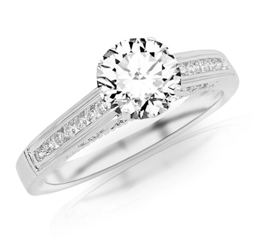 0.51 Carat Round Cut Classic Channel Set Diamond Engagement Ring (F Color, VS2 Clarity)