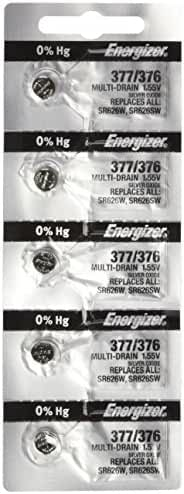 Energizer 377-376 1.55v #377/376 Watch/Calculator Battery (5 Pack) Personal Healthcare / Health Care