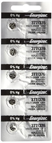 Energizer 377-376 1.55v #377/376 Watch/Calculator Battery (5 Pack) Personal