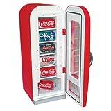 Koolatron Red 0.64 cu. ft. Coca Cola Vending Fridge Beverage Center