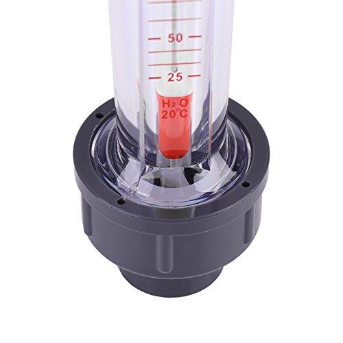 25-250L / H rotámetro tubo de plástico tipo de medidor de flujo de agua líquida instantánea DN15: Amazon.es: Bricolaje y herramientas