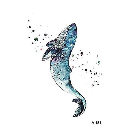 HXMAN 3 Unids Animal Beast Dolphin Impermeable Tatuaje Temporal ...