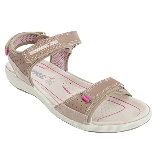 Price comparison product image Imac Womens / Ladies 2 Touch Fastening Sports Sandals (10 US) (Taupe)