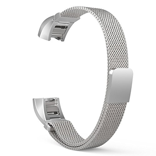 Metal Fitbit Alta HR and Alta Bands DefinedResults Milanese Stainless Steel Replacement Accessories with Magnetic Closure Small & Large Universal Band for Fitbit Alta HR and Alta