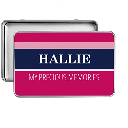 Hallie My Precious Memories: Small Rectangle Silver Metal Storage Tin