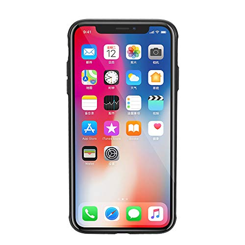 Finedayqi ❤ Case for iPhone Xs Max 6.5inch Clear Slim Ultra Hybrid Bumper Back Cover (Black)