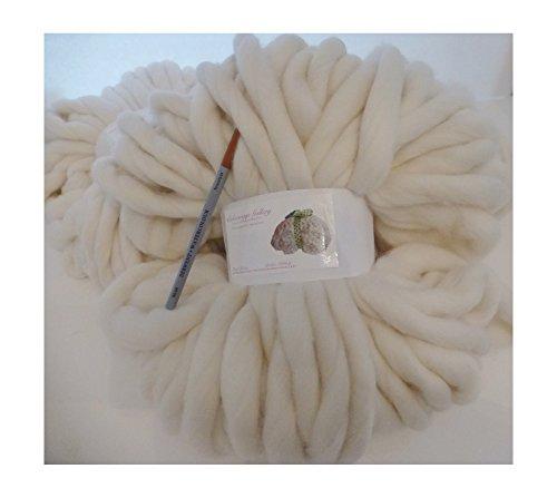 Giant Yarn, Natural, Merino Smoosh Yarn, Super Chunky, Super Soft