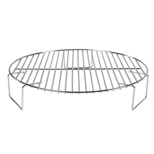 Oven Rack Grill Accessory for Convection Ovens and More - 2 inch and Round for Grilling Baking Cooling BBQ and Cooking in Multiple Layers - Steel Oven Safe Part